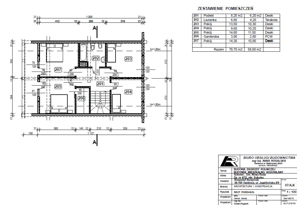 Duży dom z bali projekt
